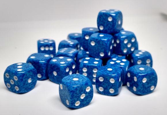 Chessex 25906 Speckled: Water - 12mm D6 (36 Dice)