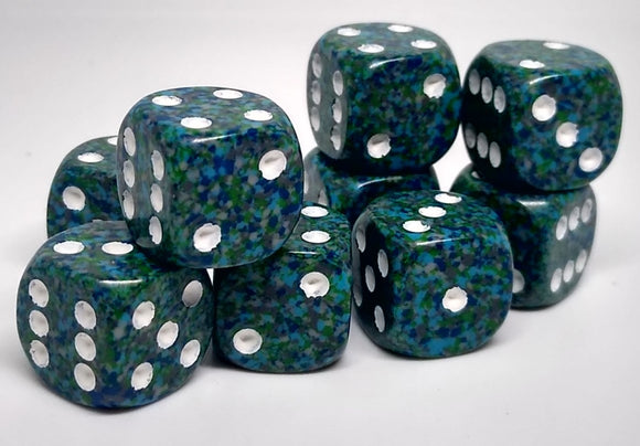 Chessex 25916 Speckled: Sea - 12mm D6 (36 Dice)