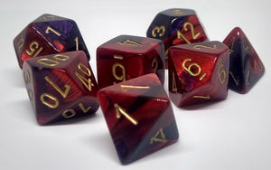 Chessex 26426 Gemini: Purple-Red/Gold - Polyhedral (7 Dice)