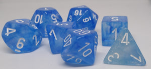 Chessex 27426 Borealis: Sky Blue/White - Polyhedral (7 Dice)