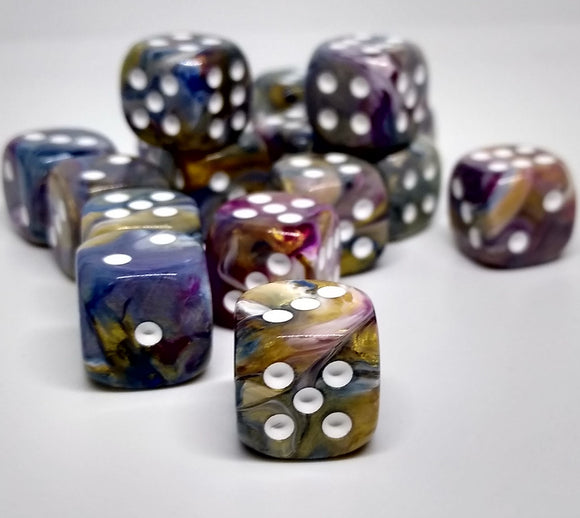 Chessex 27840 Festive: Carousel/White - 12mm D6 (36 Dice)