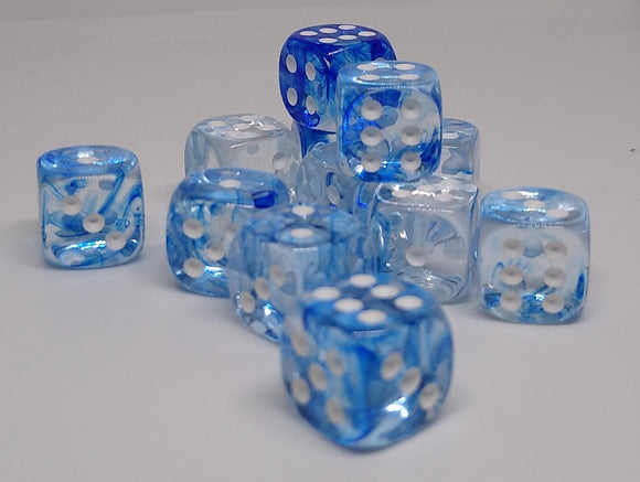 Chessex 27866 Nebula: Dark Blue/White - 12mm D6 (36 Dice)