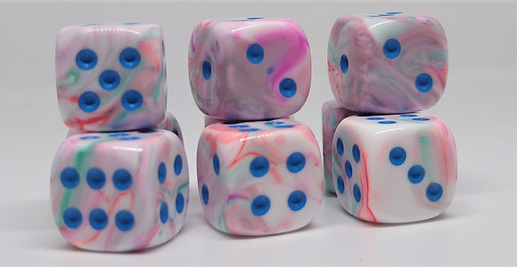 Chessex 27944 Festive: Pop Art/Blue - 12mm D6 (36 Dice)