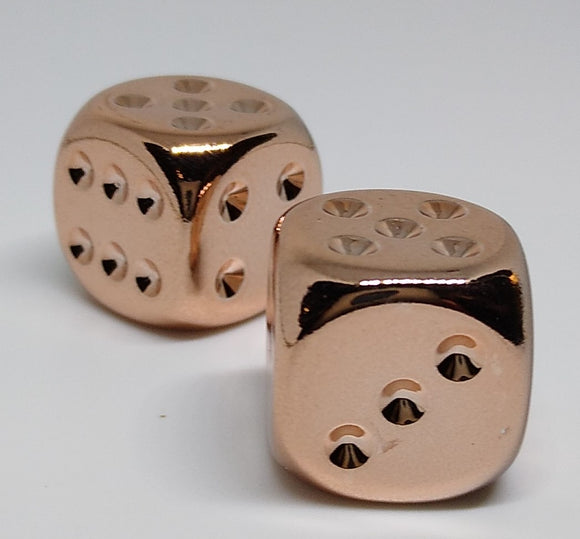 Chessex 29011 Copper Plated - 16mm D6 (2 Dice)