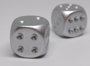 Chessex 29012 Aluminum Plated - 16mm D6 (2 Dice)