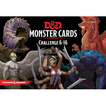 Dungeons and Dragons RPG: Monster Cards - Challenge 6-16 Deck (125 cards)