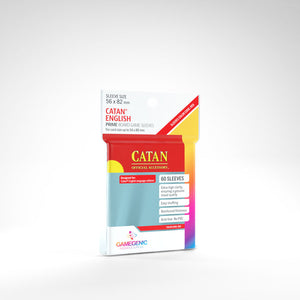 Clear Prime Sleeves: Catan (56 x 82 mm) (Color Code: Red)