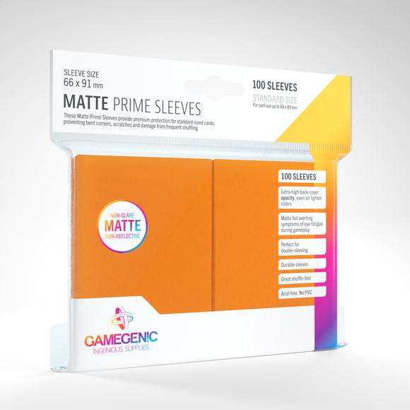Matte Prime Sleeves: Orange (66 x 91 mm)