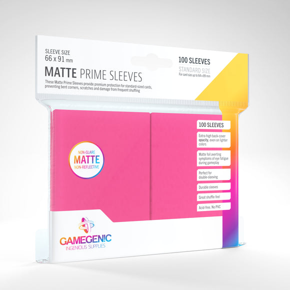 Matte Prime Sleeves: Pink (66 x 91 mm)