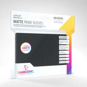Matte Prime Sleeves: Black (66 x 91 mm)