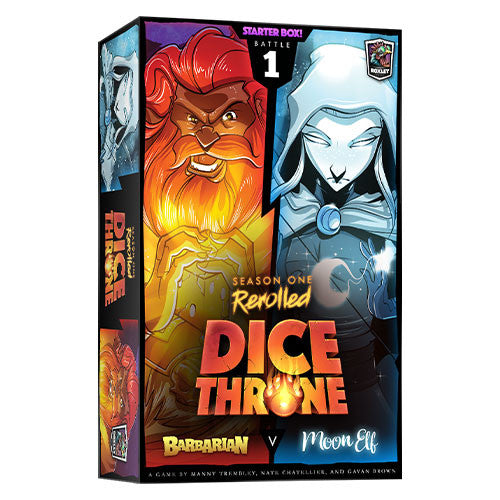 Dice Throne: Season One ReRolled – Barbarian v. Moon Elf