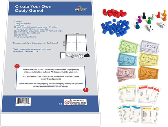 Create Your Own Opoly Game