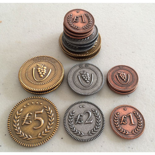 Stonemaier Games Metal Lira Coins (Viticulture/Tuscany)