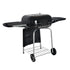 Square Charcoal  Grill with Shelf For Outdoor BBQ