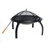22 inch outdoor portable bbq folding fire pit
