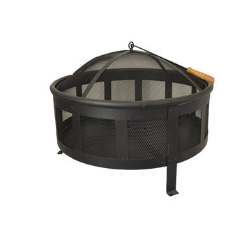 Large Fire Pit Steel Patio Charcoal Fireplace