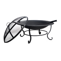 round steel bbq grill fire pit bowl for the backyard