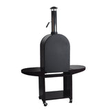 black stove wood fired pizza oven charcoal grill