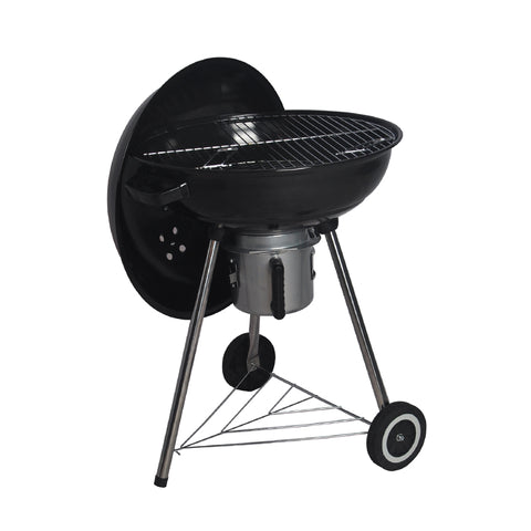Black Outdoor Portable Charcoal Kettle BBQ Grill