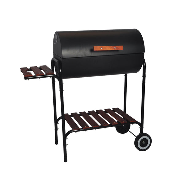 Outdoor Charcoal Barrel BBQ Grill with Wheels