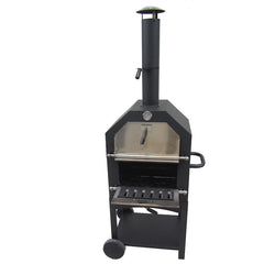Wood Fired Pizza Oven Charcoal BBQ Bakery Smoker