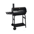 Garden Charcoal Barrel BBQ Grill with Side Table