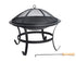 Steel BBQ Grill Fire Pit Bowl for Backyard Patio