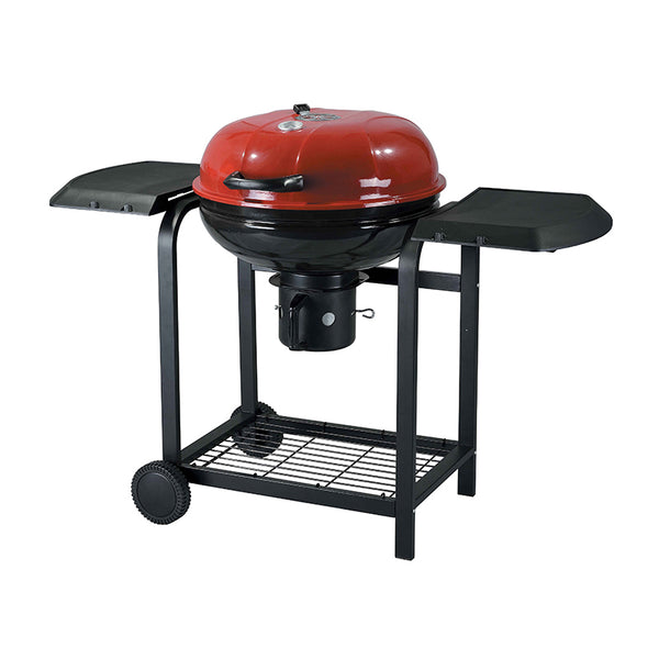 Red Kettle Grill Charcoal BBQ with Side Table