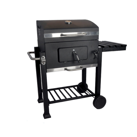 Movable Large Square Charcoal BBQ Grill Smoker