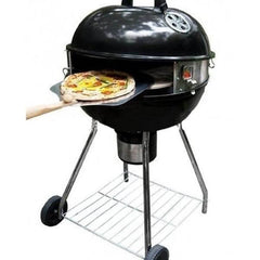 Movable Wood Charcoal Kettle Grill Pizza Oven