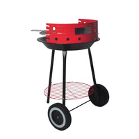 Height Adjustable Red Kettle Charcoal BBQ Grill