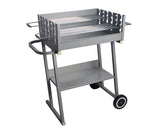 Height Adjustable Trolley BBQ Grill with Wheels