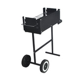 Simple Height Adjustable BBQ Grill with Trolley