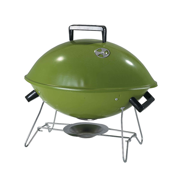 Green Mini Tabletop Football Charcoal BBQ Grill