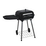 Square Folding Side Table Charcoal BBQ Grill