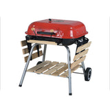 Portable Outdoor Charcoal Barbecue Table Grill