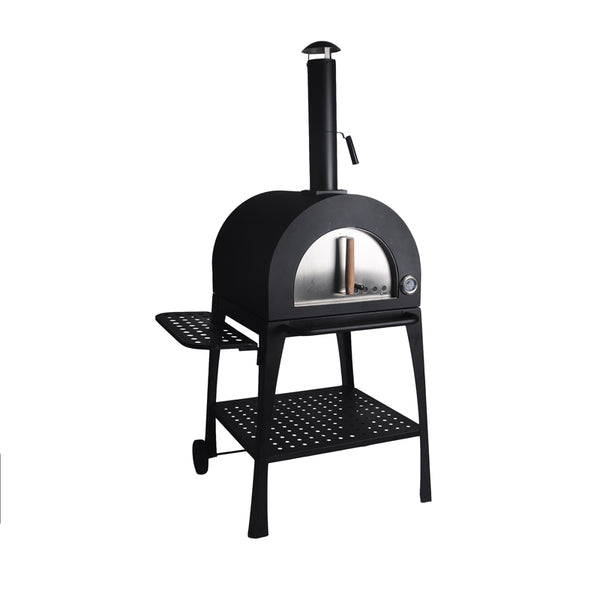 Wood Fired Pizza Oven Trolley with Side Table