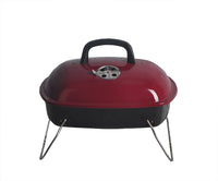Red Mini Portable Tabletop Charcoal BBQ Grill