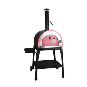 Steel Outdoor Wood Fired Side Table Pizza Oven