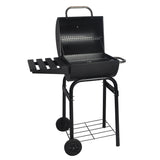 Patio Barrel Charcoal Barbecue Smoker BBQ Grill