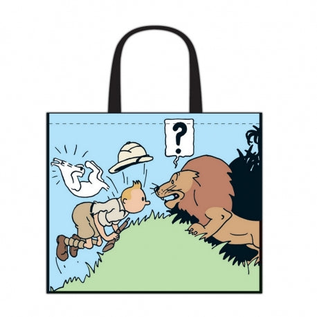 RECYCLED BAG - TINTIN IN CONGO