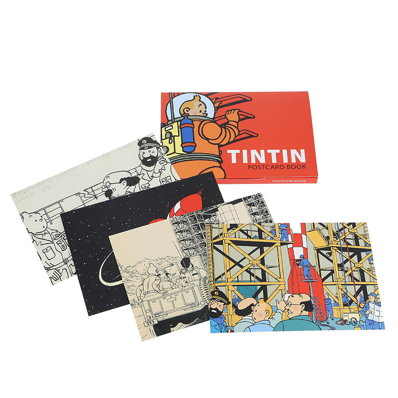 POSTCARD - TINTIN ON THE MOON PACK
