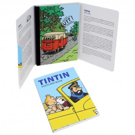 POSTCARD - TINTIN WITH CARS PACK