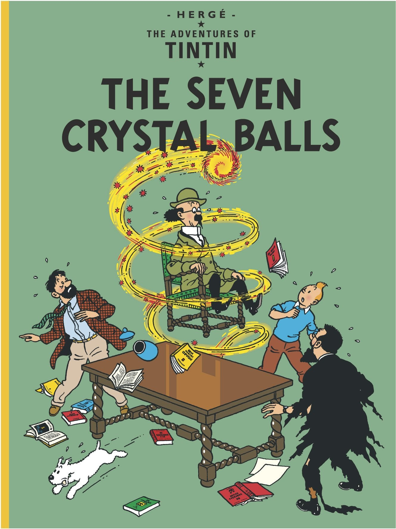 ENGLISH COVER POSTCARD - 7 CRYSTAL BALLS
