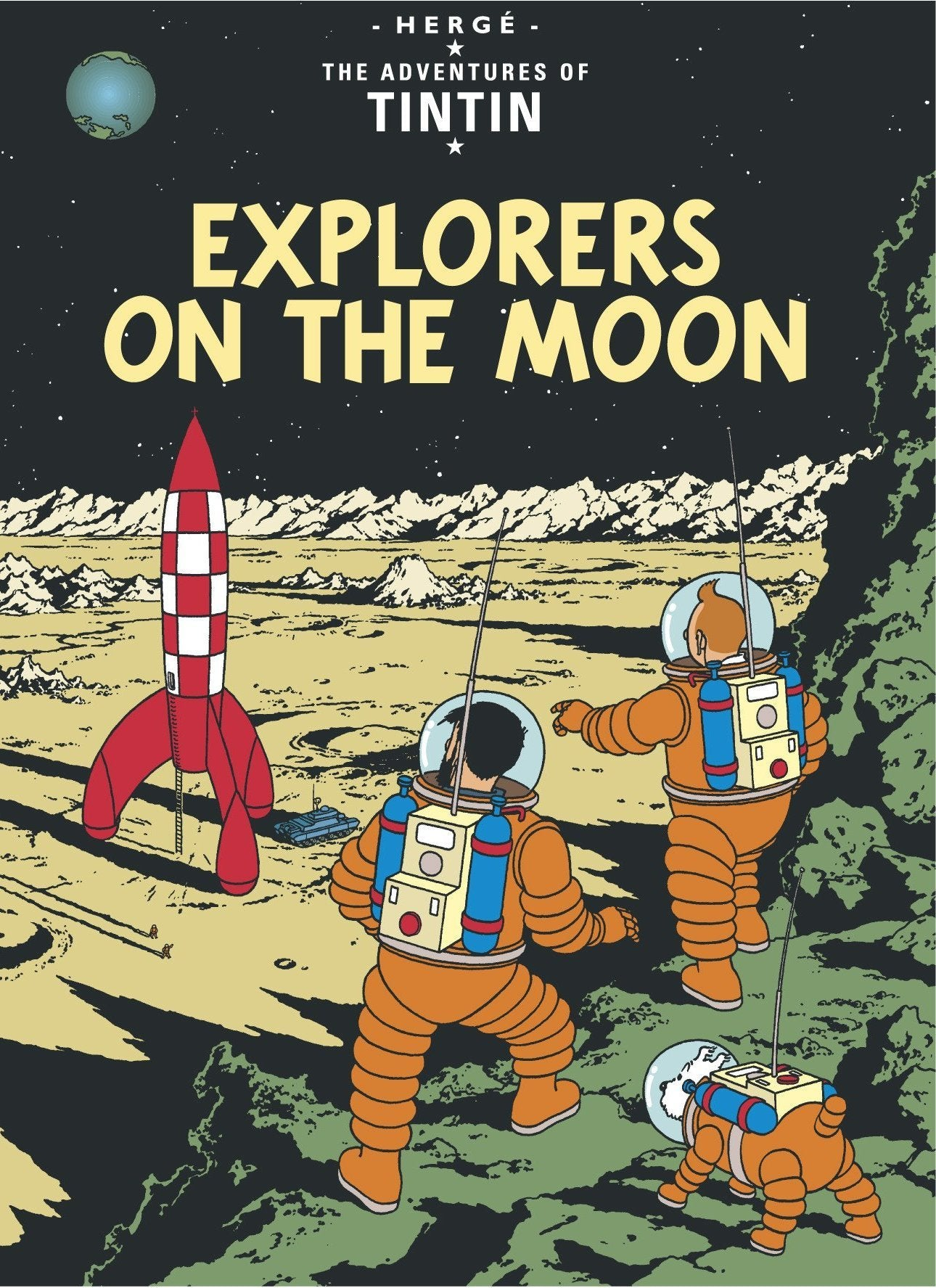 ENGLISH COVER POSTCARD - EXPLORERS ON THE MOON