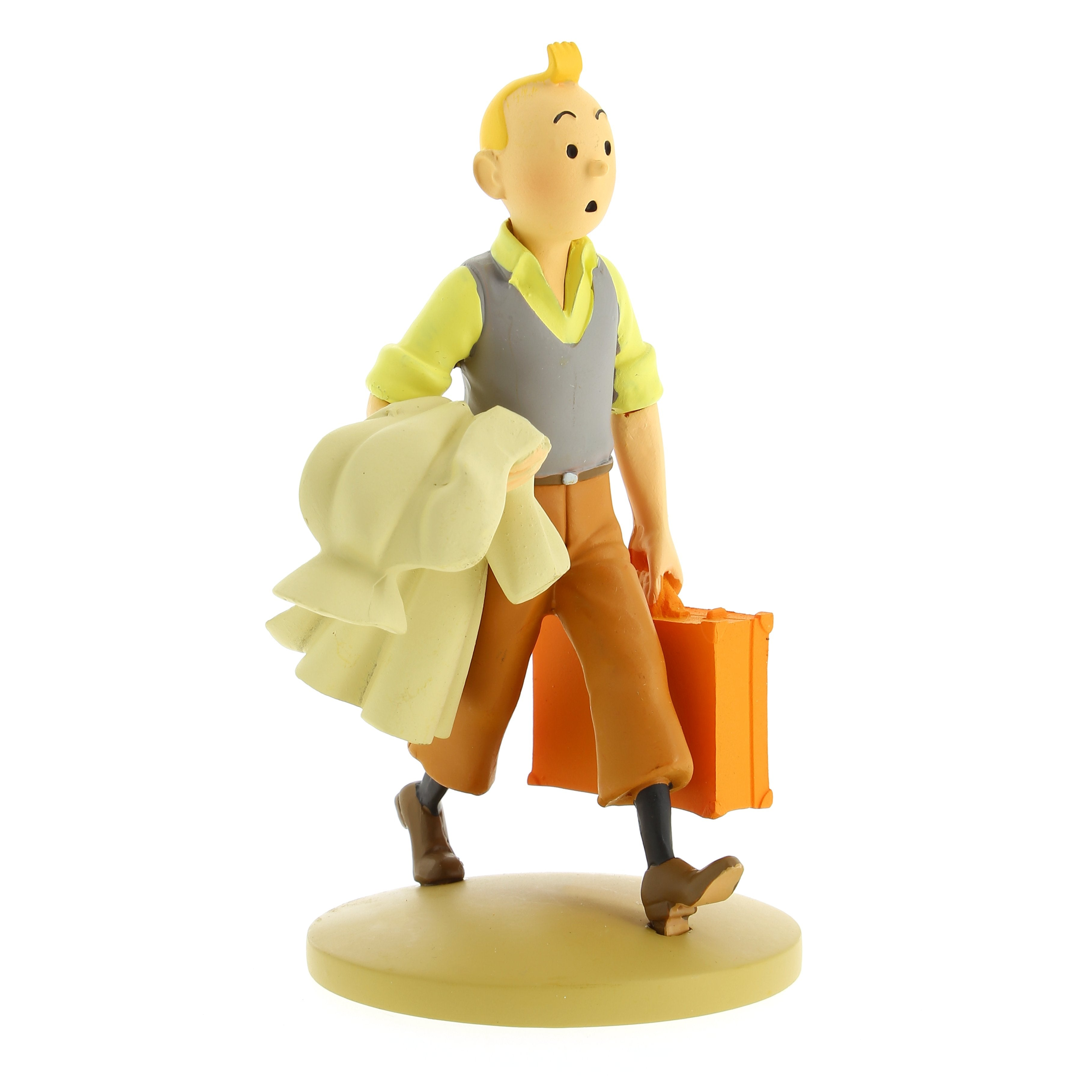 RESIN FIGURINE - TINTIN & SNOWY ON THE ROAD