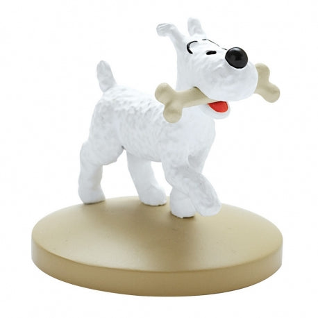 RESIN FIGURINE - SNOWY WITH A BONE
