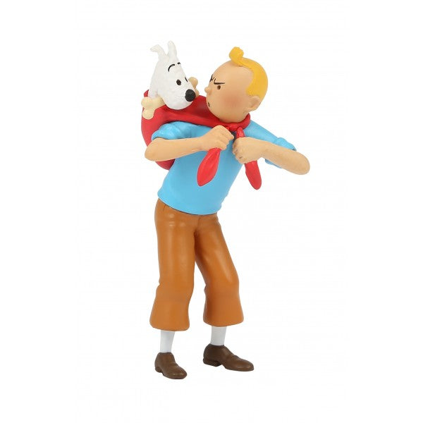 PVC FIGURINE - TINTIN CARRYING SNOWY