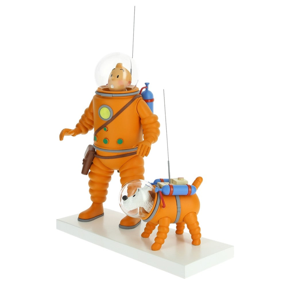RESIN COLLECTIBLE - TINTIN & SNOWY IN SPACE