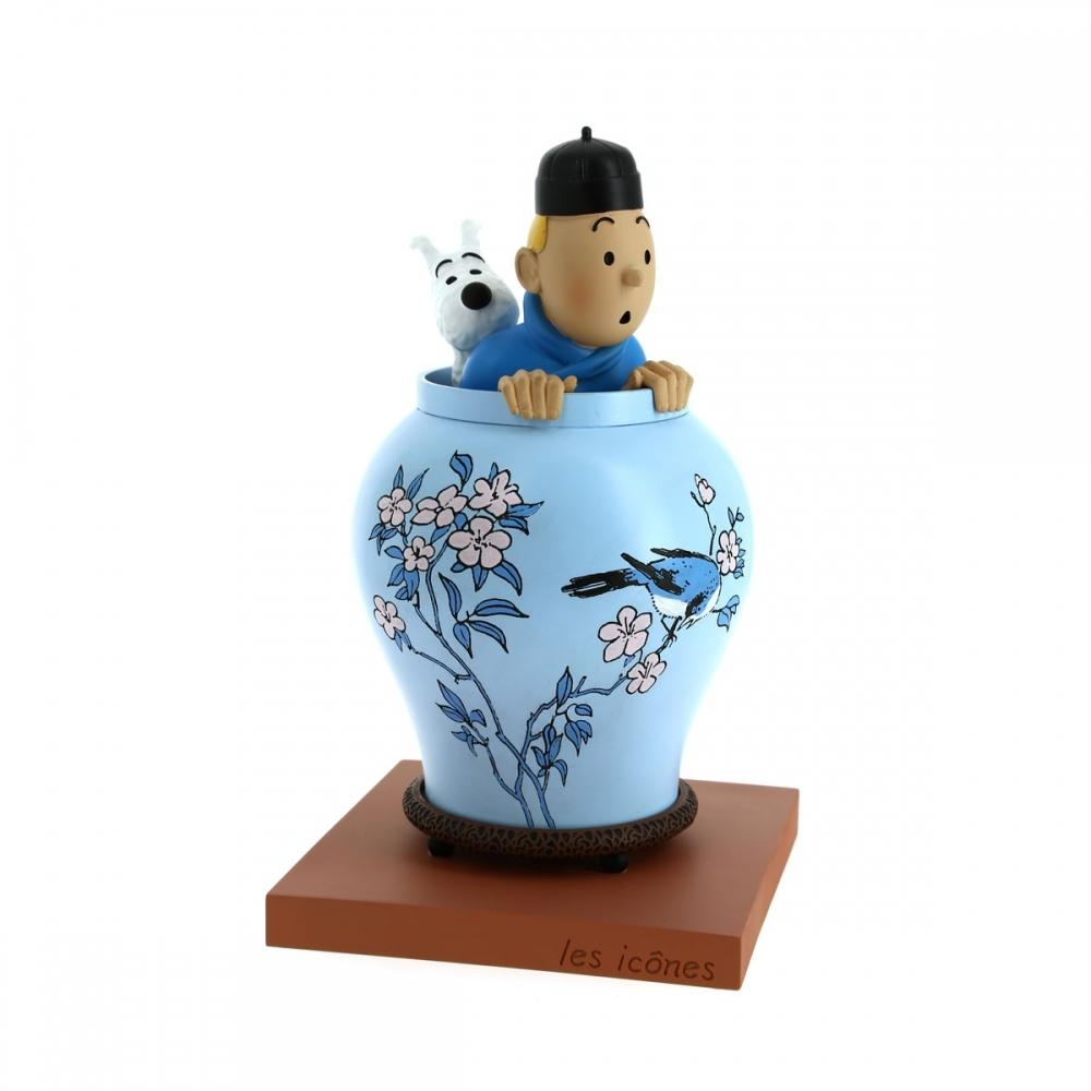 RESIN COLLECTIBLE - ICONS BLUE LOTUS VASE